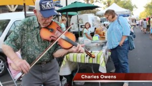 For the last two and a half years, Charles Owens and his wife Patricia have come to play Farmers Market nearly every Friday, with violin in hand.